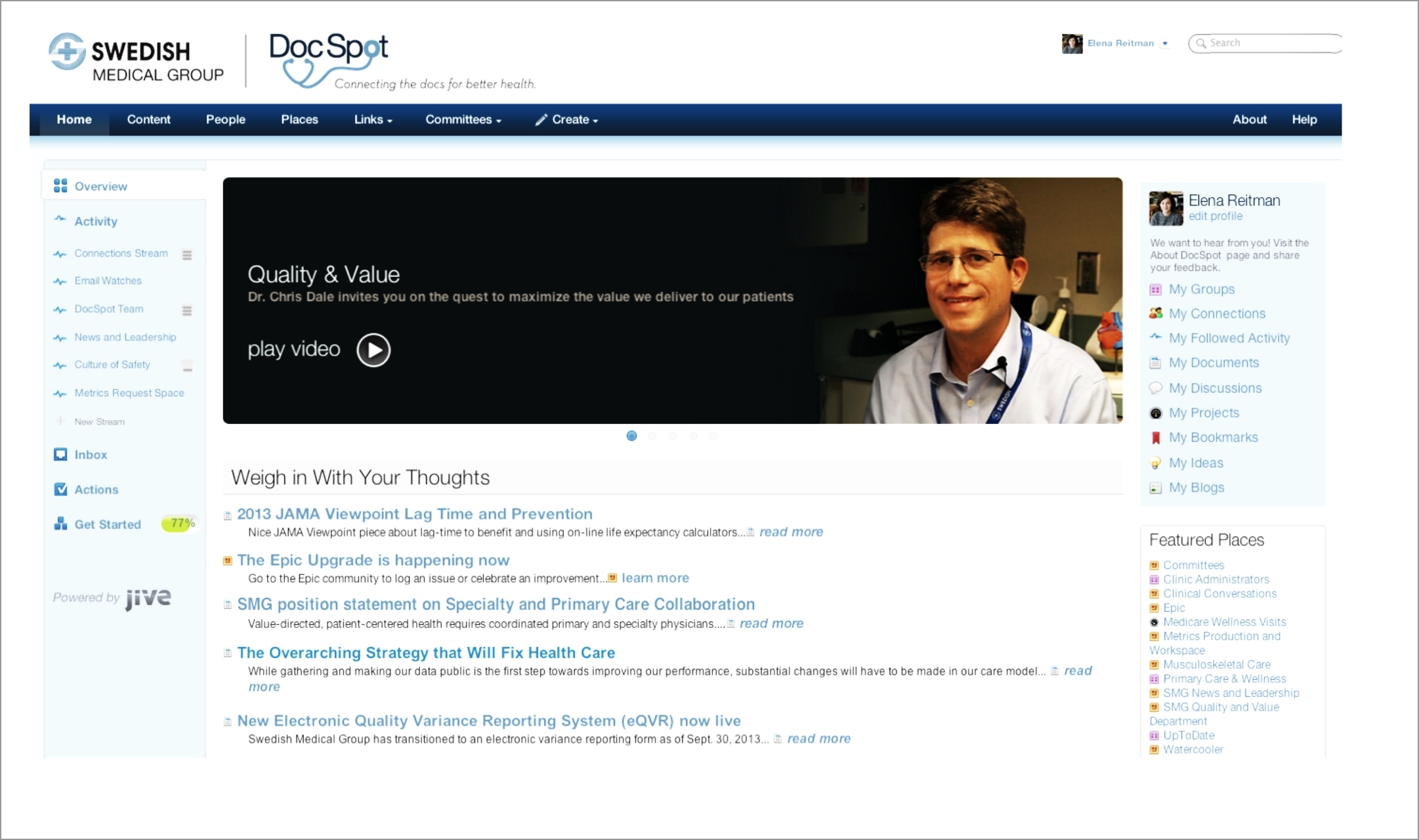 DocSpot homepage