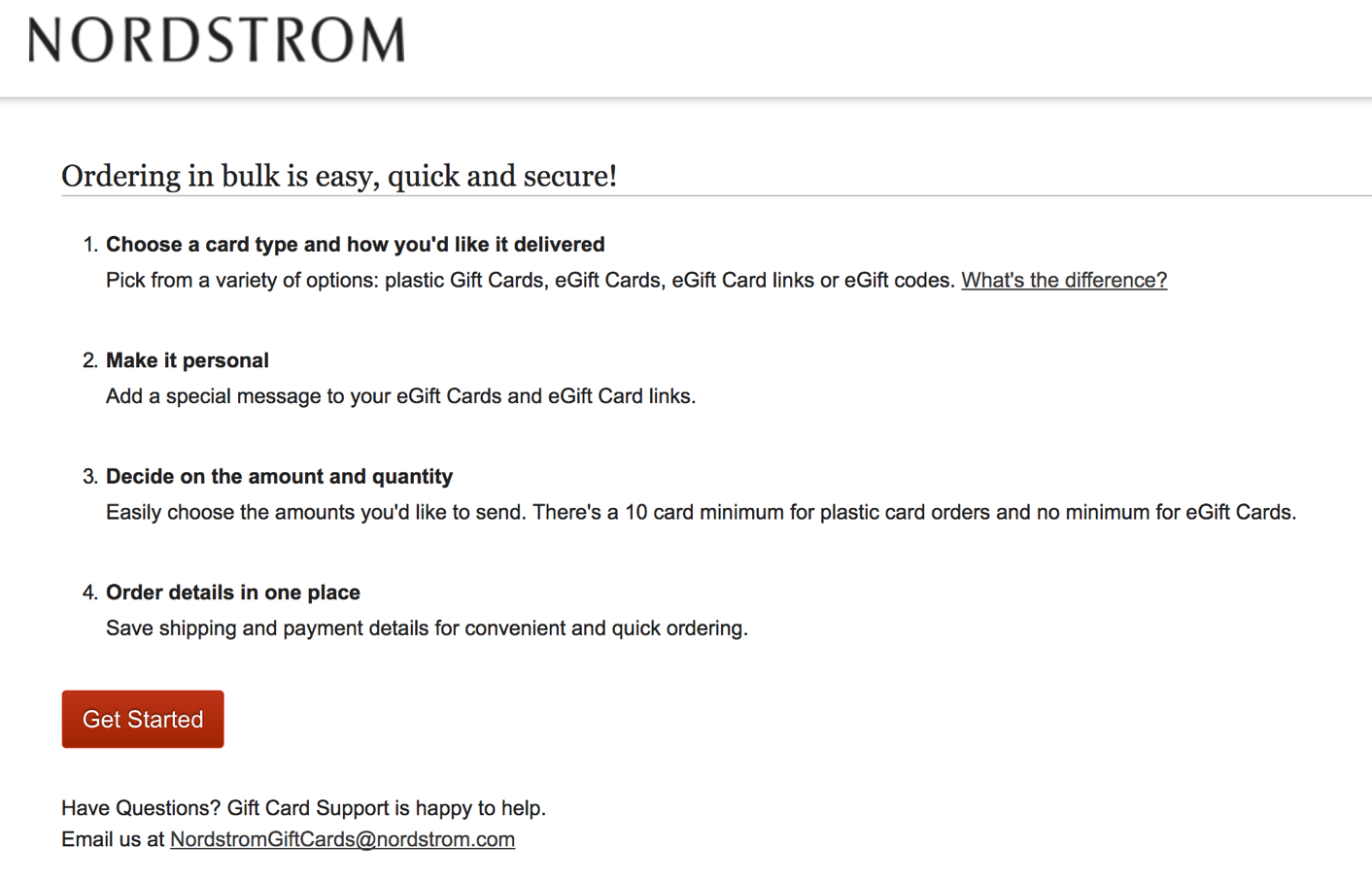 Nordstrom gift card how to